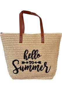 Bolsa Shopper Palha Summer Preta