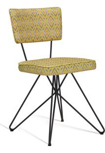 Cadeira Butterfly Retro Aço Daf Amarelo/Cinza