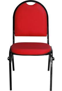 Cadeira Pethiflex Essencial Hot Fixável Couro Vermelho