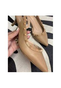 Scarpin Chanel Com Spikes Nude 37 Lelive