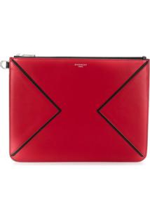 Givenchy Bolsa Carteiro Com Zíper - Vermelho