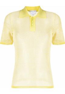 Bottega Veneta Camisa Polo De Tricô - 2951 String Seagrass