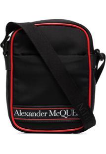Alexander Mcqueen Bolsa Carteiro Com Estampa De Logo - Preto