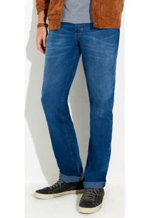 Calça Jeans Tradicional Masculina Em Algodão