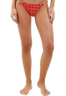 Calcinha Rosa Chá Lu Fancy Stars Beachwear Estampado Feminina (Fancy Stars, G)