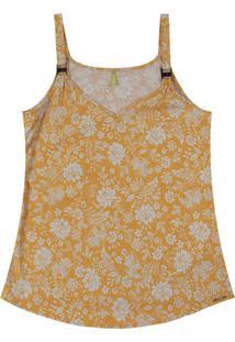 Blusa Com Alça E Decote V Amarelo