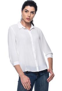 Camisa Intens Manga 3/4 Crepe Branco