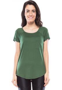 Camiseta Mulher Elastica New Pocket Vis Up - Verde