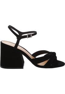 Sandália Block Heel Nobuck Black | Schutz