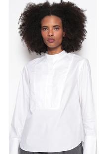 Blusa Lisa Com Recorte-Brancaosklen