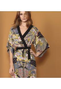 Vestido Kimono Estampado Templos - Lez A Lez