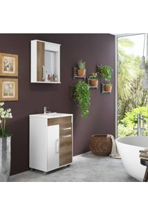 Conjunto De Banheiro Stm Móveis A36 Branco Monastrel Se