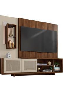 Estante Home Theater Para Tv Até 65 Polegadas 2 Portas Linus Havana/Of