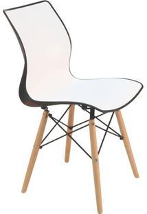 Cadeira Maja- Branca & Preta- 84,5X52X43Cm- Tramtramontina