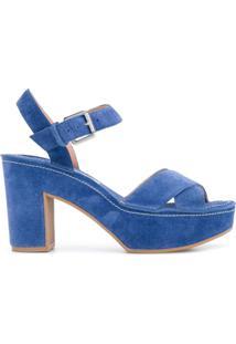L'Autre Chose Sandália Com Plataforma - Azul
