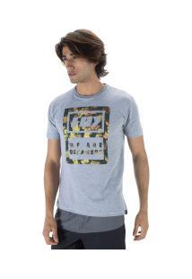 Camiseta Hd Estampada Camo Lea - Masculina - Cinza