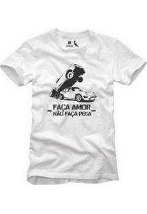 Camiseta Reserva Faça Amor Masculina - Masculino-Branco