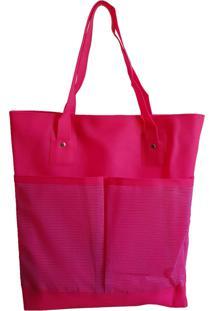 8c716bcb4 ... Bolsa Bag Dreams De Praia Impermeável Com Bolsos Rosa