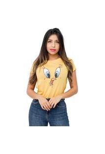 Camiseta Sideway Looney Tunes Piu Piu - Amarela