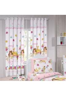 Cortina Infantil - Princesa Bela Magic - 2,80M X 1,80M - P/ Varão - Santista