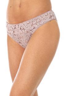 Calcinha Calvin Klein Underwear Tanga Renda Rosa - Rosa - Feminino - Poliamida - Dafiti