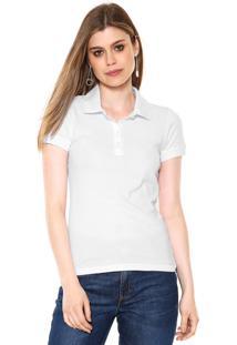 Camisa Polo Hering Lisa Branca