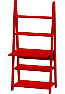 Estante Escrivaninha Tangga Vermelho 84X50X175H