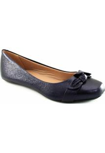 Sapatilha Metalizada Sapato Show 11619 Feminina - Feminino-Azul