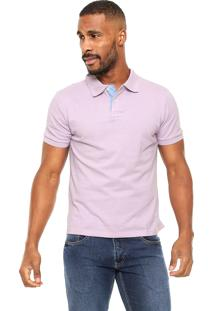 Camisa Polo Blue Bay Slim Roxa