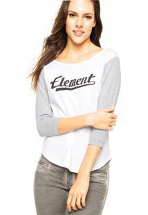 Blusa Element Stencil Off-White/Cinza
