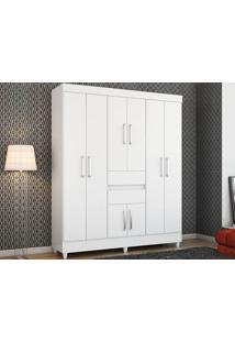 Guarda-Roupa De Casal 8 Portas Munique Branco - Lc Móveis