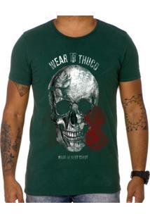 Camiseta Use Thuco Pink Skull Verde