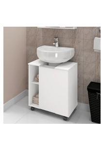 Armário Gabinete Para Banheiro Móveis Bechara Pequin 1 Porta Branco