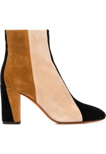 Santoni Ankle Boot Color Block - Neutro