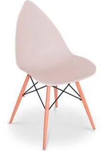 Cadeira Pingo- Bege & Marrom Claro- 88,5X50X55Cmfalkk