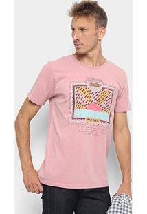 Camiseta Redley Tinturada Silk 80S Masculina - Masculino-Rosa