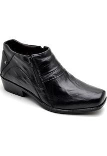 Bota Top Franca Shoes Country Masculino - Masculino-Preto