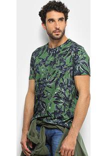 Camiseta Forum Floral Masculina - Masculino