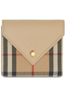 Burberry Carteira Vintage Check - Neutro