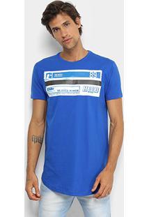 Camiseta Fatal Rappin Hood Alongada Masculina - Masculino-Azul Royal