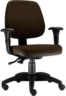 Cadeira Giratã³Ria Lyam Decor Job Marrom - Marrom - Dafiti