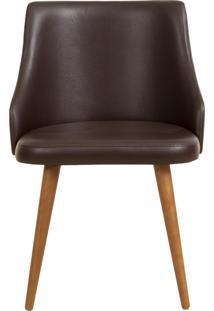 Cadeira Dã¡Lia - Couro Marrom