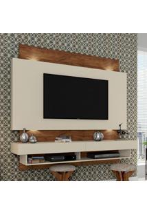 Painel Para Tv Suspenso Tb115L Com Led Off White/Nobre - Dalla Costa