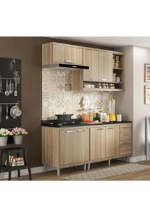 Cozinha Modulada Multimóveis Sicília 06 7 Portas E 3 Gavetas - Argila Acetinado