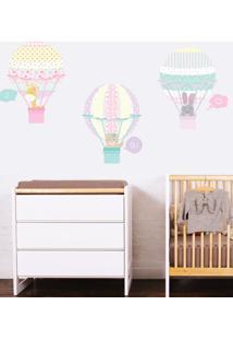 Adesivo Decorativo Stixx Balloon Menina - Rosa