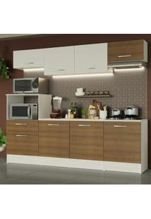Cozinha Completa Madesa Onix 240002 Com Armã¡Rio E Balcã£O - Branco/Rustic 096E Branco - Branco - Dafiti