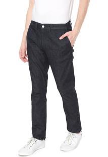 Calça Jeans Lacoste Chino Lisa Azul