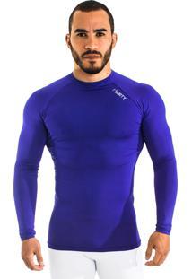 Camisa De Compressão Térmica Manga Longa Outbreak Surty Azul