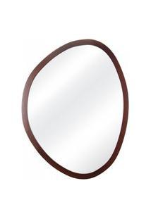 Espelho Decorativo Orgânico Tabaco 58X70 Cm