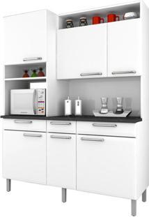 Cozinha De Aço Compacta Regina 6 Portas Branco - Itatiaia